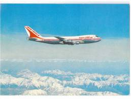 TRANSPORT AIRPLANE BOEING 747 AIR INDIA INDIA BIG POSTCARD - 1946-....: Moderne