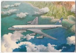 TRANSPORT AIRPLANE KLM'S DOUGLAS DC-8 INTERCONTINENTAL JET ROYAL DUTCH AIRLINES DENMARK BIG POSTCARD - 1946-....: Moderne