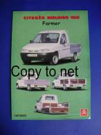 PORTUGUESE EDITION CITROEN BERLINGO VAN FARMER SINGLE PAGE CATALOGUE CAR VOITURE EDITION PORTUGAISE - Cars