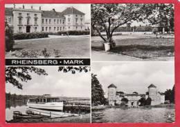 CPSM ALLEMAGNE RHEINSBERG MARK 4 Vues :  Diabetiker Sanatorium - Blick Zum See - Dampferanlegestelle * Format CPM - Rheinsberg