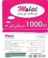 SUDAN - Mobitel Prepaid Card(matt Surface) 1000 SD, Exp.date 31/12/06, Used - Sudan