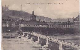 France Lyon Pont de la Guillotiere Hotel Dieu 1914