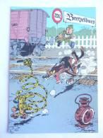 CARTE Postale SPIROU N°70 - SUPPLEMENT AU JOURNAL 1986 COUVERTURE DU RECUEIL 89 FRANQUIN - MARSUPILAMI - Tarjetas Postales