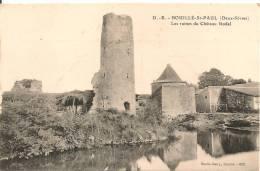 Cpa79 Bouilé St Paul Ruines Du Chateau Féodal - Andere Gemeenten