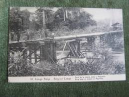 Congo Belge-Belgisch Congo-Pont De La Lukula Dans Le Mayumbe - Congo Belge - Autres