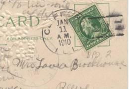 Reeve IL Illinois DPO-4 & Clifford IL DPO-2 Doane Postmark Cancel On 1910 Vintage Postcard - Postal History