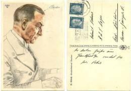 2. WK Propagandakarte Willrich, Großadmiral Raeder, Ritterkreuz, VDA, Von Darmstadt Nach Bad Nauheim Gelaufen - War 1939-45