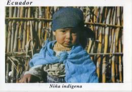 Lote PEP178 Ecuador, Postal, Postcard, Niña Indigena, Little Girl, Indigenous Activities, Actividades Indigenas - Ecuador