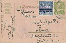 Kaiser Franz Josef 2. XII. 14 Mit Gestempelte Vignette Auf Feldpostganzsache. Zensur K.u.K Matrosen - WW1