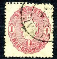 GS-342)  SAXONY  1863  Mi.# 16 / Sc.#17 Used - Sachsen