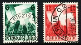 3. REICH 1936 Nr 632-633 Zentrisch Gestempelt 5CE60A - Used Stamps