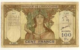 NOUVELLE CALEDONIE  -  NEX CALEDONIA  -  100  FRANCS  -  Non Daté  -  P.42 - Nouvelle-Calédonie 1873-1985