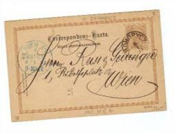 Österreich, 1893, Corr.karte Mit Eingedr. 2Kreuzer Frankatur Von Drohobycz Nach Wien Mit Beiden Ortsstempeln; (11636W) - Ganzsachen