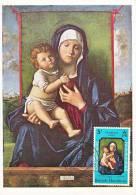 Carte-Maximum HONDURAS BRITANNIQUE N°Yvert 237 / BELLINI / La Vierge Et L'Enfant - British Honduras (...-1970)