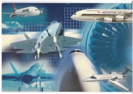 TRANSPORT AIRPLANE VARIOUS TYPES OF PLANE AND AIRLINE FLIGHT INTERNATIONAL BIG POSTCARD - 1946-....: Moderne