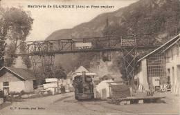 Marbrerie De GLANDIEU ; Pont Roulant - RARE VARIANTE - Cachet De La Poste 1931 - France