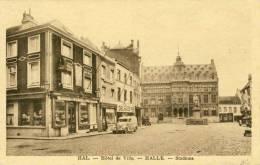 Halle - Stadhuis  -Magasin / Winkel Delhaize Frères ( Scan Zien ) -1942 - Halle