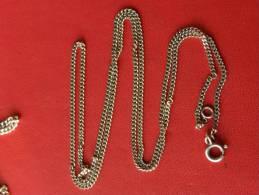 (144) Chaine En Argent - 5,19 Grs - 59,5 Cm - Necklaces/Chains