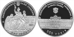 "UCRANIA  2  Hryvnia  2.011  2011 ""350 Years Ivan Franko National University""    DL-9862 - Ucrania"