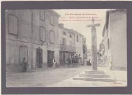 Ariege - Oust -  La Place Du Centre Et La Rue Principale - 353 Labouche - Oust