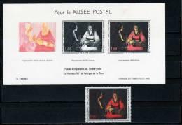 Gemälde Mutter Und Kind 3Druckphasen Frankreich 1552 **/o Plus Sonderblock I/66 11€ Bf Art Bloc Painting Sheet Of France - Blocs & Feuillets
