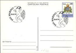 "INTERO POSTALE SERIE ORDINARI 1978 - L. 120 - CATALOGO FILAGRANO ""C43"" - ANNULLO: MOSTRA ANTOLOGICA GUTTUSO 26/8/1979 - Postwaardestukken"