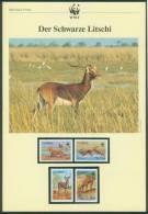 Sambia  1987  WWF - Wasserbock (6 Seiten Text !)  (4 ** (MNH) Kpl. )  Mi: 438-41 (13,00 EUR) - Zambia (1965-...)