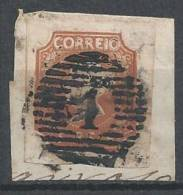 PORTUGAL- 1853,  D. Maria II.  5 R.   Tipo I  (sobre Fragmento) (o)  Afinsa  Nº 1 - 1853 : D.Maria