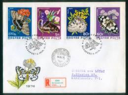 Ungarn  1974  Schmetterlinge  (2 Bilder!) (2 Groß-FDC  Kpl. )  Mi: 2994-00 (8,00 EUR) - FDC