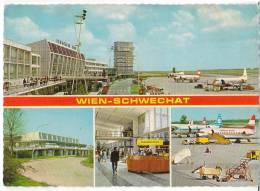 TRANSPORT AERODROME VIENNA SCHWECHAT AIRPORT AUSTRIA BIG POSTCARD - Aerodrome