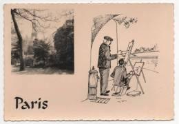 - PARIS. - La Tour Eiffel - Flamme Des BERETS ROUGES - Cpsm Carte Photo - Scan Verso - - Tour Eiffel