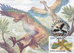 ARCHEOPTERYX,CM,CARTES MAXIMUM,MAXICARD,1994,ROMANIA - Sellos
