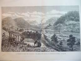 Percement Du Canal De Panama , Vue Générale Des Travaux De Coupure De La Culebra , Gravure De 1888 - Documents Historiques