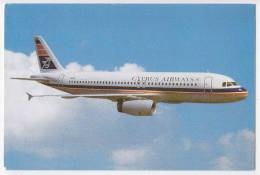 TRANSPORT AIRPLANE AIRBUS A320 CYPRUS AIRWAYS CYPRUS BIG POSTCARD - 1946-....: Era Moderna