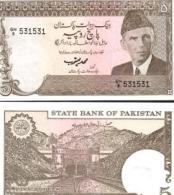 Pakistan #38-2, 5 Rupees, ND (1983-84), AU - Pakistan