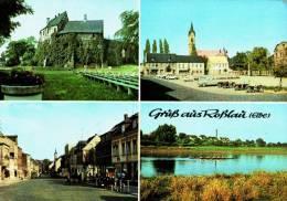 AK Roßlau, Burg, Hauptstraße, Marktplatz, Elbe, Gel, 1972 - Rosslau