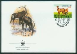 Angola  1990  WWF - Rappenantilope  (4 FDC  Kpl. )  Mi: 799-02 (6,00 EUR) - Angola