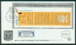Israel  1973  25 Jahre Unabhängigkeit  (1 FDC  Kpl. )  Mi: Bl. 10 (1,50 EUR) - Israel