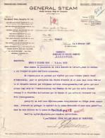 Brief  Van 1927 - ANTWERPEN -  GENERAL STEAM - Service De Bateaux Vapeurs Entre Anvers Et Londres - Non Classés