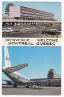 TRANSPORT AERODROME THE MONTREAL'S NEW AIRPORT BUILDING QUEBEC CANADA POSTCARD 1972. - Aerodrome