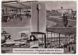 TRANSPORT AERODROME KLOTEN ZURICH SWITZERLAND BIG POSTCARD - Aerodrome