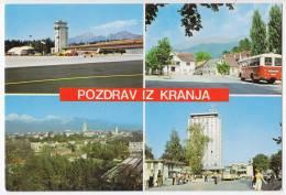 TRANSPORT AERODROME KRANJ SLOVENIA YUGOSLAVIA BIG POSTCARD - Aerodrome