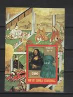 1974 GUINEA ECUATORIAL MONA LISA Mi# BLOCK 150B MNH** NEUF POSTFRIS - Art