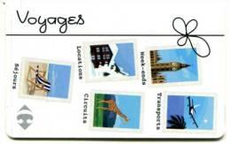 @+ Carte Cadeau - Gift Card : CARREFOUR - VOYAGES. Sans Lettre Au Verso. - Carta Di Fedeltà E Regalo
