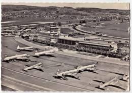 TRANSPORT AERODROME KLOTEN ZURICH SWITZERLAND BIG POSTCARD 1960. - Aerodrome