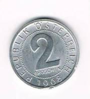 OOSTENRIJK  2 GROSCHEN 1968 - Autriche