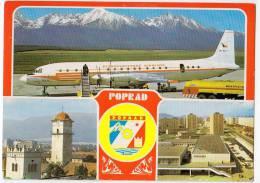 TRANSPORT AERODROME POPRAD CSZECH REPUBLIK BIG POSTCARD - Aerodrome