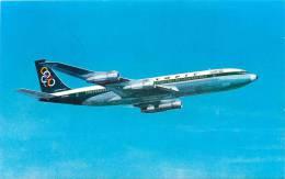 AVIATION  AVION   OLYMPIC AIRWAYS  BOEING 707-320  SUPER FAN JET  SCANS RECTO VERSO - 1946-....: Moderne