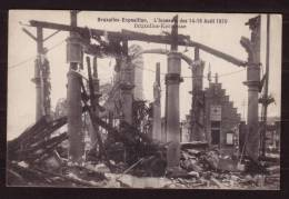 Exposition BRUXELLES 1910 - Incendie Du 14-15 Août 1910 - Non Circulé - Not Circulated. - Evénements