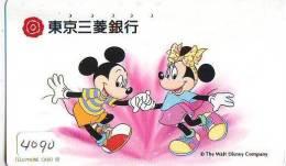 Télécarte JAPON DISNEY (4090)  PHONECARD JAPAN * TELEFONKARTE * 110-813 * Mickey Minnie & Canard Donald Duck - Disney